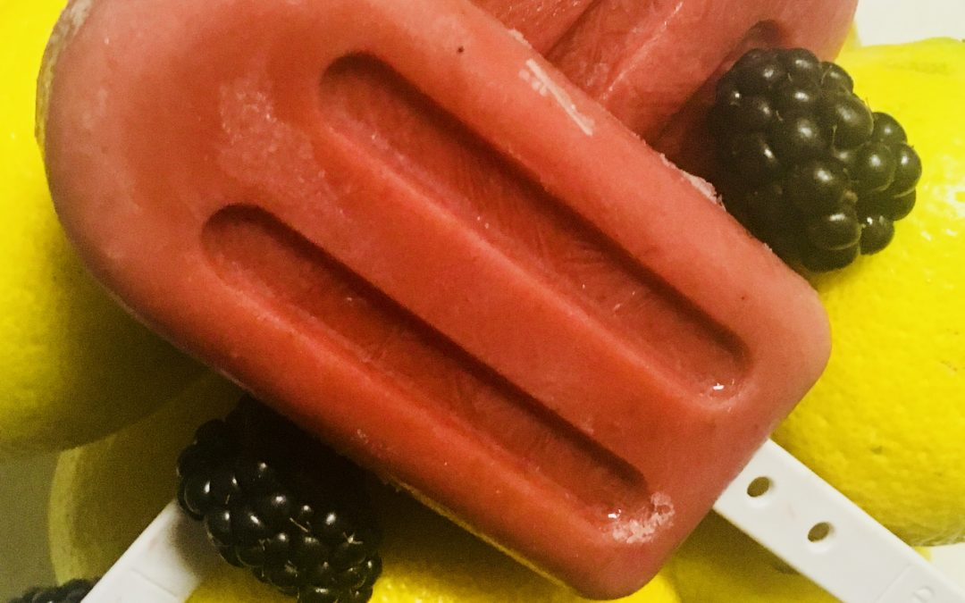Refreshing Lemon Blackberry Popsicles